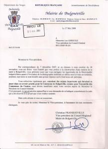 Courrier de Monsieur le Maire - 17 mai 2008