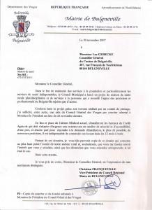 Courrier de Monsieur le Maire - 30 novembre 2007